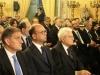 Staatspraesident und Innenminster mit dem Landtagspraesidenten der Region Sizilien
