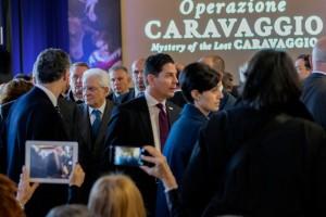 Der Präsident der Italienischen Republik S. Mattarella (zweite Links Zum Vergrößern: Klick auf das Foto