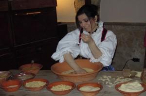 """Vorbereitung der """"fregola""""-Pasta"""