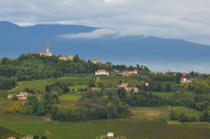 Hügel des Prosecco in San Pietro di Feletto Zum Vergrößern: Klick auf das Foto