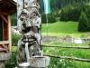 Suedtirol. Wolkenstein. Schreckfigur