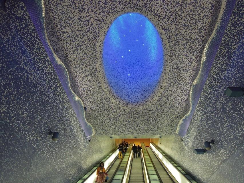 Neapel Künstlerische U Bahn Terra Italia
