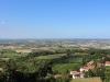 Der Balkon mit Sicht auf Weinreben und ganz weit das Meer, Bertinoro