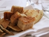 La piadina romagnola - ein stück gutes Fladen Brot