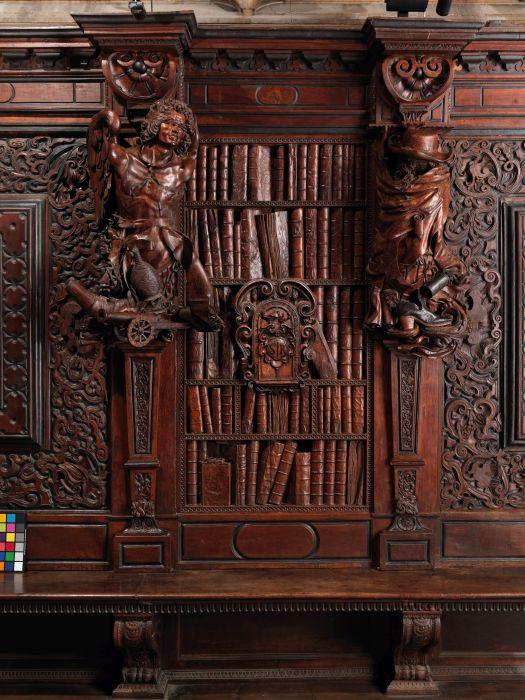 Pianta, Finta libreria, dossali salone, Scuola Grande di San Rocco, Venezia