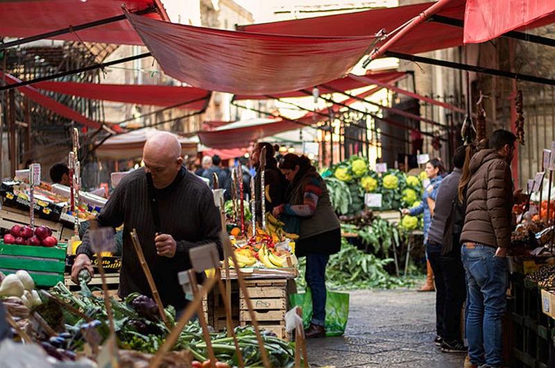 Palermo, ein malerischer Markt