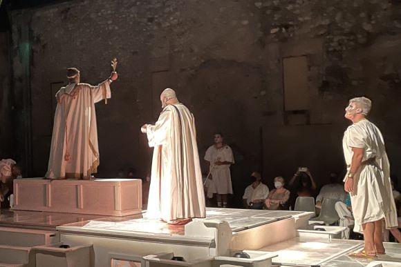 """Minori, """"Drama de Antiquis"""", ein Theaterstück in der Antike"""