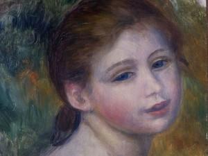 """Pierre Auguste Renoir """"Tete de femme"""""""