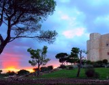 Apulien. Abendstimmung am Castel del Monte.C