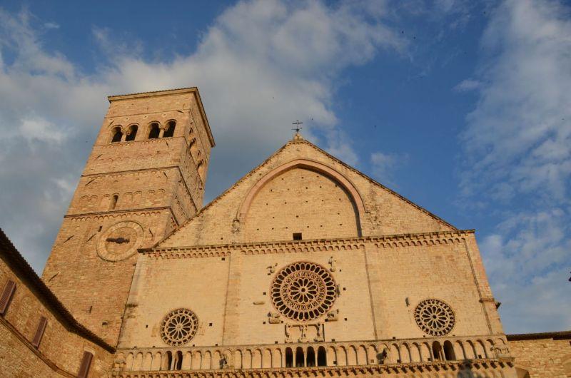 Assisi bei Sonnenuntergang