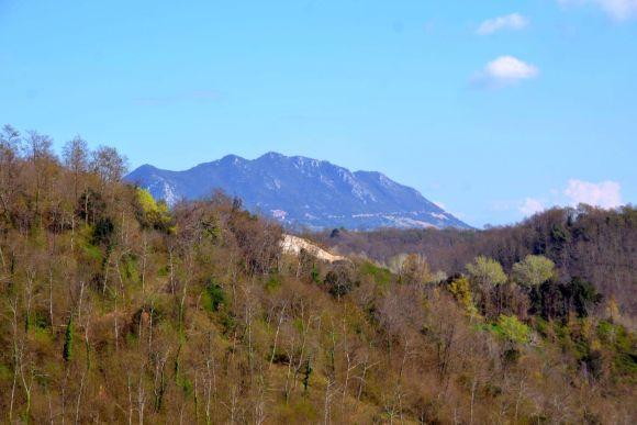 Aussicht auf Monte Soratte, Schloss Paterno, Foto Elvira D'Ippoliti