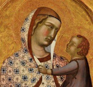 POLITTICO LORENZETTI POST Madonna con Bambino (part.)