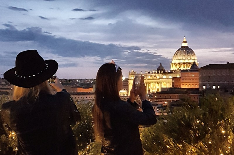 Der Himmel über Rom: die wunderschöne Dachterrasse Les Etoiles