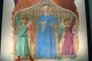 "Montercchi, Das Fresko ""Madonna del Parto"" von Piero della Francesca"