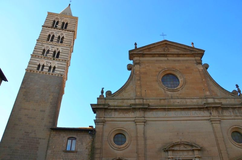 Viterbo und der Viertel San Pellegrino