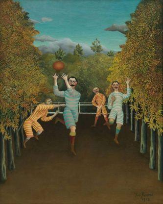 Les joueurs de football, 1908 Henri Rousseau